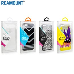 wholesale Universal DIY Custom LOGO Transparent PVC Packaging Box for iphone 7 7 plus Case with Inner Tray