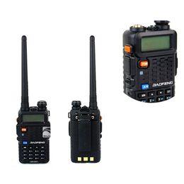 Wholesale Walkie Talkie BaoFeng Amateur Radio BF F8 Two Way Radio MHZ MHZ Dual Band walkie talkie Pieces DHL