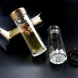 Tasse en verre double Tasse en verre Cadeau de cadeau d'affaires Cadeau promotionnel LOGO personnalisé Lait personnalisé Voyage en plein air Cristal à partir de logo d'entreprise cadeaux fabricateur