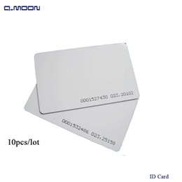 Wholesale standard size ID card sensitivity RFID khz access control factory company staff pvc card for reader bit
