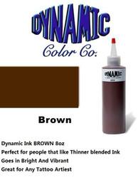 Wholesale DYNAMIC BROWN oz Tattoo Encre Brite Vibrant Dark Color Supply Une des meilleures encres dans l industrie du tatouage