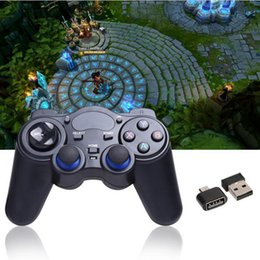 Joystick inalámbrico androide en venta-2.4G Gamepad Android Controladores inalámbricos Gamepad joystick controlador Android para Tablet PC Smart TV Box para PS3 Consol