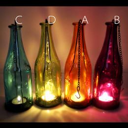 Wholesale Glass Wine bottle holder Can hang Garden Lights Glass Bottles Wedding Decoration Romantic Birthday Gift