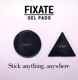 Wholesale 2Pcs Reuseable Fixate Gel Pad Set Round Triangle Magic Sticker Strong Adhesive Gel Pad Moveable Wall Hook Tape Stikk Free Ship