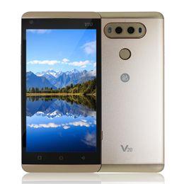 Pouces 1gb à vendre-2017 Nouveau V20 1: 1 Clone 3G WCDMA 5,5 pouces IPS 1280 * 720 HD Android 7,0 cadre en métal Quad Core MTK6580 1Go 4 Go 5,0MP caméra GPS WiFi Smartphone