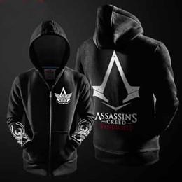 2017 capas superiores del traje 2016 Assassin's Creed Conner Kenway Chaqueta con capucha Top chaqueta de cosplay traje capas superiores del traje en venta