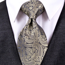 J20 Paisley Multicolor Champagne Khaki Black Dark Gray Mens Ties Neckties Pocket Square 100% Silk Tie Set Free Shipping Wholesale