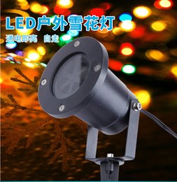 Wholesale Light Stones Wholesale - Christmas Indoor Outdoor LED Projector Automatically garden LED light Moving Snowflake Spotlight Lamp Christmas Festival party Decorations