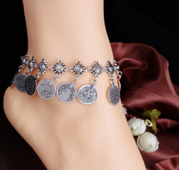 New Pattern Fashion Major Suit Fund Restore Ancient Ways Style Metal Coin Tassels Anklet Best Sellers Romantic Free Shipping