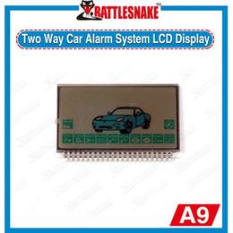 Sistema de alarma a distancia un coche en venta-Venta al por mayor-Promoción Exhibición libre de Starlionr A9 LCD del envío para el sistema de alarma bidireccional de dos vías teledirigido del coche de Starlionr A9 del LCD
