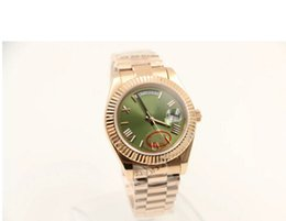 Wholesale - luxury brand new watch day and sapphire glass green dial 18k watch Mens watch
