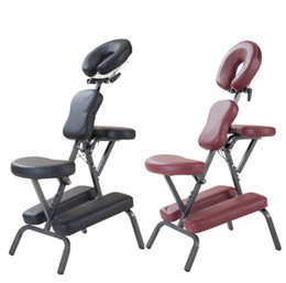 Wholesale Modern Portable Leather Pad Massage Chair With Free Carry Bag Salon Furniture Adjustable Tattoo Massage Dental Spa Chair Sale