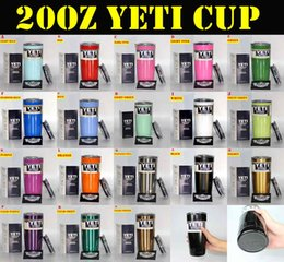Wholesale 18 colors Yeti Cups oz YETI Rambler Tumbler Travel Vehicle Beer Mug Double Wall Bilayer Vacuum Insulated Stainless Steel