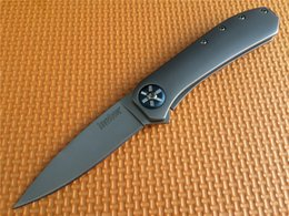 Wholesale Kershaw Amplitude Assisted quot Bead blasted finish Blade Blackwash Steel Handles OEM Kershaw