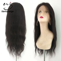 dropship 18 inch lace front peruvian human hair wig for black women full lace wig human hair wholesale