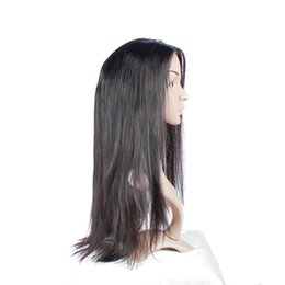 Descuento peluca recta sin cola peruana llena del cordón Envío libre Glueless Uglam ninguna peluca recta peruana del enredo con pelucas llenas del pelo humano del cordón del pelo del bebé