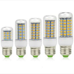 Promotion ampoule g9 conduit Ultra Bright SMD5730 E27 E14 lampe LED 7W 9W 12W 15W 18W 220V angle 360 5730 SMD LED Ampoule de lumière chandelier 24LED 36LED 48LED 56LED 69LED