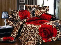 Wholesale New D flower bedding set plant design quilt cover bed linen bedclothes bed set bed sheet duvet cover pillowcases