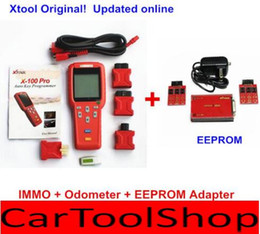Wholesale DHL free X PRO X100 Pro Auto Key Programmer X100pro for IMMO ODOMETER and OBD Software Function with EEPROM Update Online