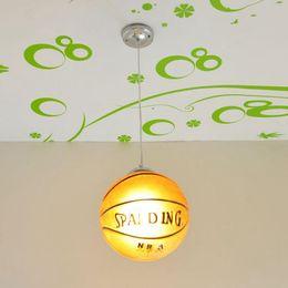 Acheter en ligne Étude sur les enfants-Enfant 'Chambre à coucher Basketball / Football Pendentif Lumière Enfants de la chambre d'étude créative Lumière pendante Salle de jeux moderne Pendentif Lampe