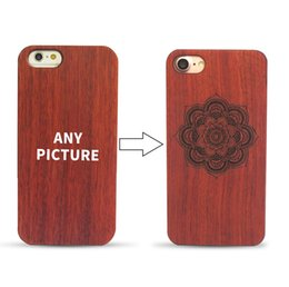 Wholesale Luxury Laser Carving PC and Walnut Wooden Case Cover for Apple iPhone Model Print Logo Case