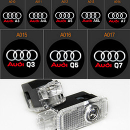 2X car laser projector Logo Ghost Shadow Light For AUDI A1 A3 A4 B6 B8 A6 C5 80 A7 Q3 Q5 Q7 TT Sline C6 B5 B7