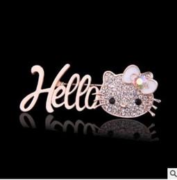 Perles de diamant hauts talons en Ligne-Animaux hauts talons lèvres avec diamant broche perle, hollo kiti broches 14 styles peuvent choisir