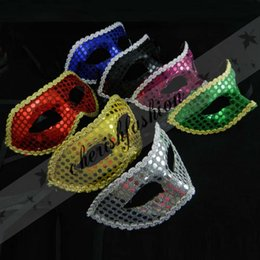 Wholesale New Party Mask Half Face Masks With Sequins Masquerade Masks For Adult Festival Wear Z104 B