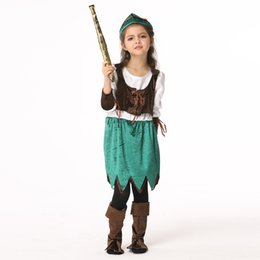 2017 new Halloween selling products children's pirate style with hat suit, children's section of the role of performance clothing