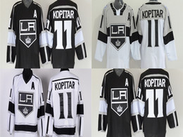 Hot Sale Cheap LA 11 Anze Kopitar Jersey Los Angeles Kings Hockey Jerseys 2014 Stadium Series Black White Anze Kopitar Ice Hockey Jersey