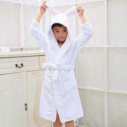 Kid's Hooded Bathrobe Christmas Pajamas Children Bathrobes Kids Bathrobe for Girl and Boy 100% Colour Cotton Towels Robe