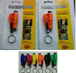 Wholesale Car Emergency Safety Hammer Seat Belt Cutter Glass Window Breaker Car life saver keychain rescue escape tool