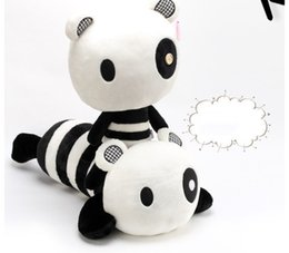 Wholesale Latest Cute Plush Toy Big Small Eye Panda quot Gray Lovely Figures High Quality Plush Dolls for Children Best Birthday Gift