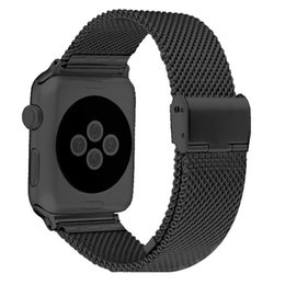 High Quality Black 38MM 42MM Stainless Steel Mesh Apple Watch Strap Band For iWatch Smart Watches Suitable for Apple watches 1 2