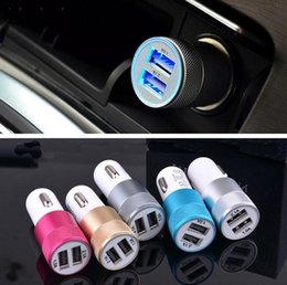 Wholesale 2 A Best Metal Dual USB Port Car Charger Universal Auto Quick Charge for Apple iPhone iPad iPod Samsung Galaxy