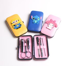 6pcs in 1 Cartoon Cute Manicure Set Pedicure Kit Beauty Nail Clipper Cutter Scissor Case Tools Gift Salon Home Use Portable Nail Art Care