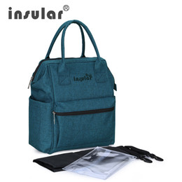 Wholesale New Arrival Insular Fashion Baby Diaper Backpack Multifunctional Mommy Bag Backpack Nappy Bag