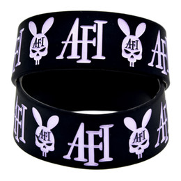 Wholesale Wide A Fire Inside Punk Style Band Silicon Wristband for Music Fans