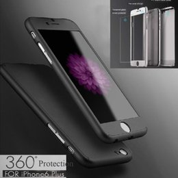 Wholesale 360 degree For iPhone7 plus S S SE Case Tempepred glass Hybrid Acrylic Full Body Cover For Samsung S7 S6 edge