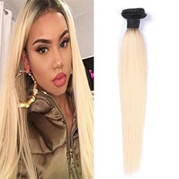 Wholesale Peruvian Virgin Hair Bundles 100g 8A Unprocessed Human Hair Weaves Peruvian Straight Virgin Hair Wefts Ombre T1B No tangle