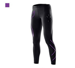 free shipping Women's sports running compressed pants breathable speed dry Lycra fitness trousers Slim stretch perspiration pants