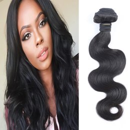 Unprocessed Brazilian Virgin Hair Weaves Bundles 1 pcs 50g Body Wave Human Hair Extensions 8-26inch Dyeable Free Shipping