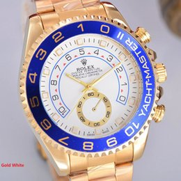 Wholesale 2016 Top Brand Rolex Yacht II Steel Pink Gold Automatic Date Men s Watch Stainless Stell Band Master Good Quality