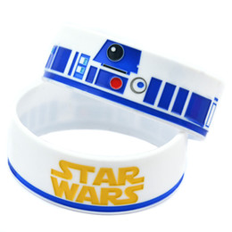 Wholesale Shipping New Arrival 50PCS Lot Star Wars with R2-D2 Silicon Wristband Debossed Perfect To Use In Any Benefits Gift For Gamer