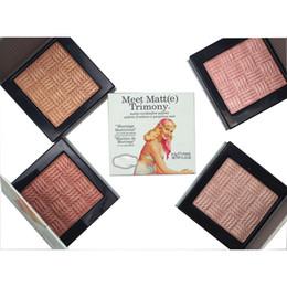 Wholesale Benefit Cosmetics Meet Matte Trimony highlighter makeup Eyeshadow matte Color Bronzing Powder High Light Powde