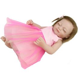 Realistic Reborn Baby Doll 28cm Eye Closed Girl Soft Silicone Vinyl Newborn Baby Girl Kids Child Birthday Gift Toys