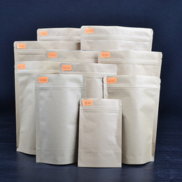 10 Different Sizes, Kraft Paper Bags, Stand-up Pouch with Window for Candy Buffets, Merchandise, Cookie, Beans, Snack, Food