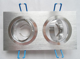 4 PACK aluminum double GU10 fixture MR16 holder Square spotlight fittings led down light edge bracket 2 in 1 dia50mm DIY kits