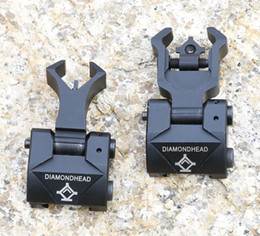 Wholesale Diamondhead DIAMOND Iron Sight Flip Up Rear Front Sight Folding Iron Sights for Drop In Free Floating Handguards Picatinny Rail