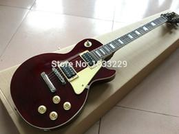Descuento guitarras llama roja Aduana de encargo de la guitarra eléctrica de la llama roja de las guitarras de China al por mayor-Personalizar cualquier color libera el envío El nuevo estilo de la fábrica de la guitarra de China